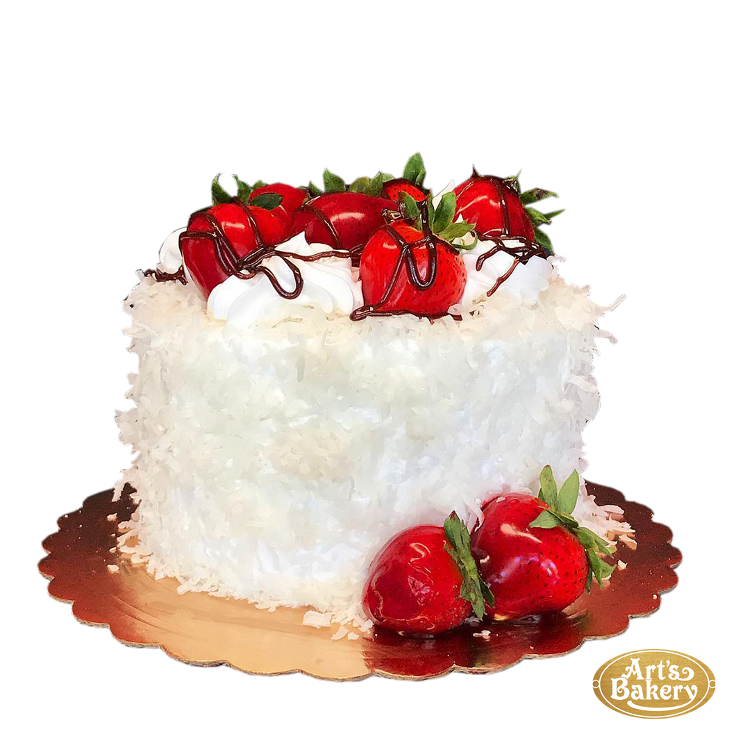 Raffaello Shavings with Strawberries Cake 41