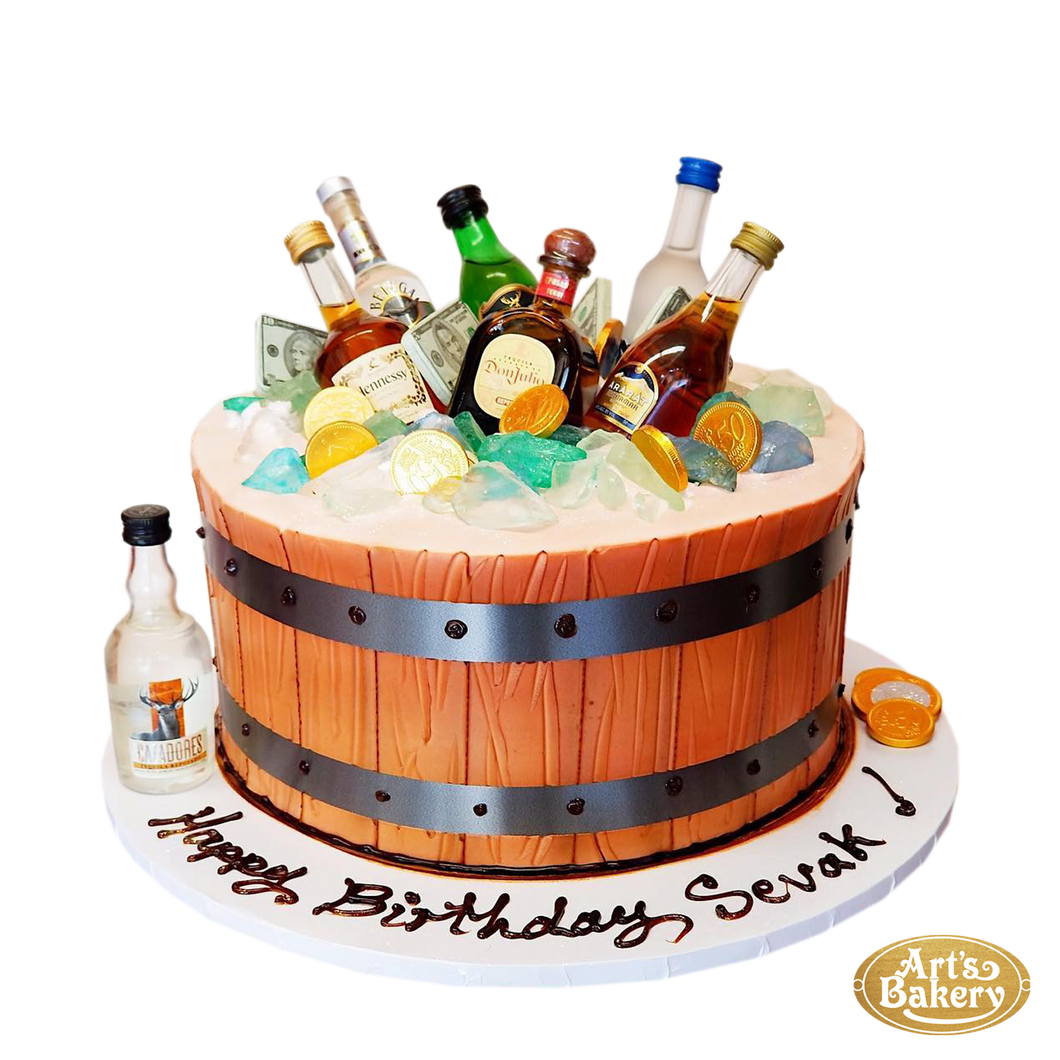 Arts Bakery Glendale Liquor Chest Cake 45