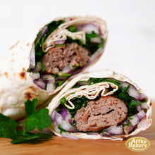 Load image into Gallery viewer, Arts Bakery Glendale Beef Lulah Kabob Wrap