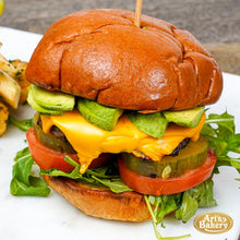 Load image into Gallery viewer, Arts Bakery Glendale Gourmet Burger with Cheese and Fries