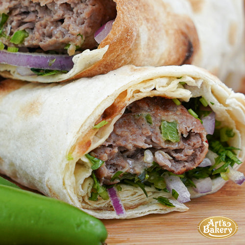 Arts Bakery Glendale Jalapeno & Cheese Infused Beef Lulah Kabob Wrap