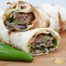 Load image into Gallery viewer, Arts Bakery Glendale Jalapeno & Cheese Infused Beef Lulah Kabob Wrap