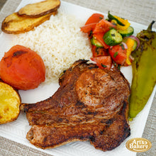 Load image into Gallery viewer, Arts Bakery Glendale Berkshire Pork Chop Plate Includes Rice Pilaf & Two Sides