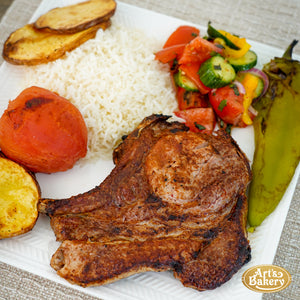 Arts Bakery Glendale Berkshire Pork Chop Plate Includes Rice Pilaf & Two Sides