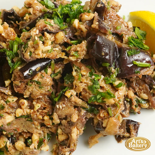 Pan Seared Eggplant with Walnuts (PER POUND)