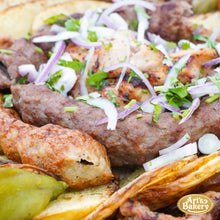 Load image into Gallery viewer, Arts Bakery Glendale Family Kabob Platter #2 (6 & 12 Person Serving Sizes)