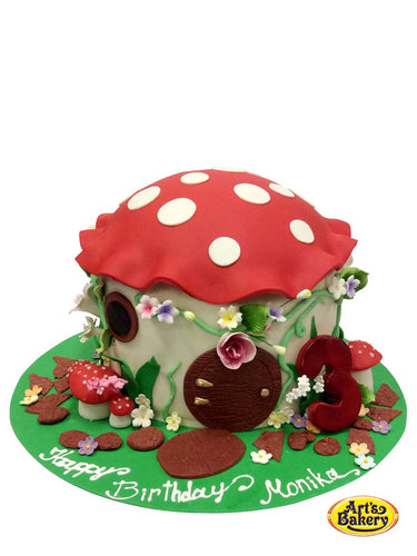 Arts Bakery Glendale 05 Mushroom Kid's Birthday Cake