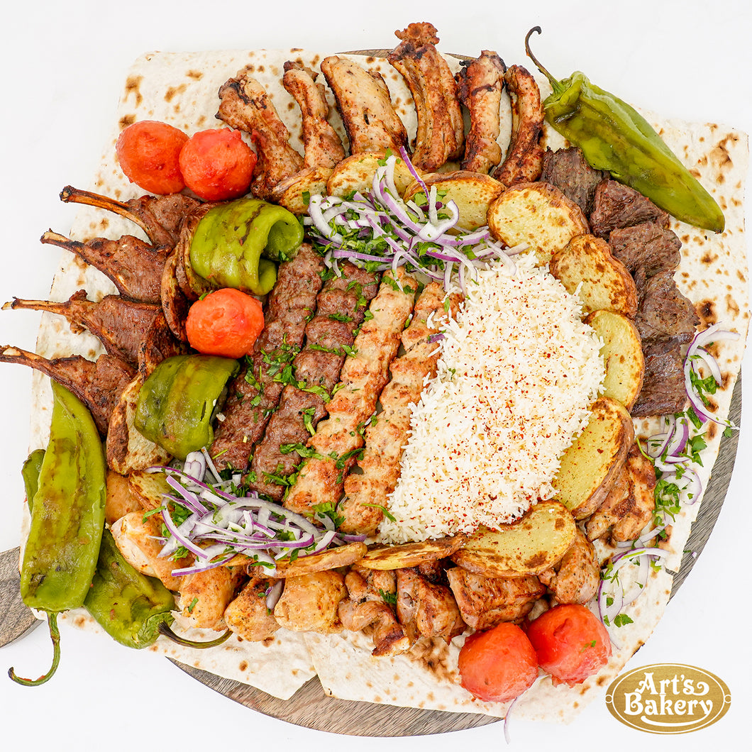 Arts Bakery Glendale Family Kabob Platter #1 (6, 12 & 16 Person Serving Sizes)