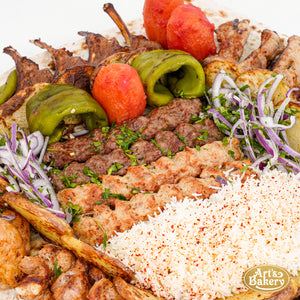 Family Kabob Platter (6, 12 & 16 Person Serving Sizes)