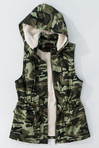 ARMOUR CAMO SHERPA LINED VEST