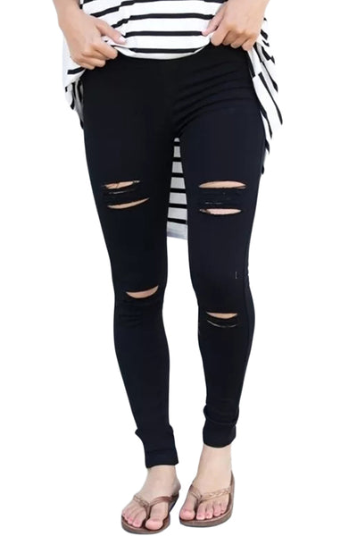 REDEEMED HIGH WAIST DISTRESSED DENIM