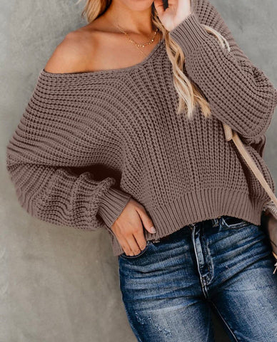 DELIGHTED IN KNIT SWEATER