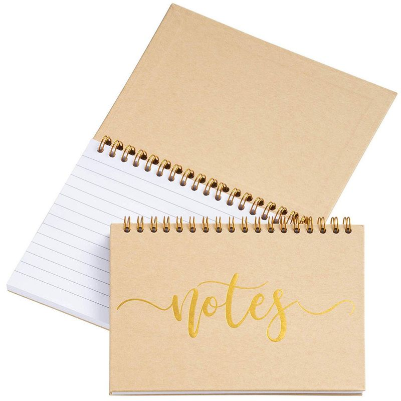 Paper Junkie to Do List Spiral Notepads, Gold Foil (6.5 x 5 Inches, 6-Pack)