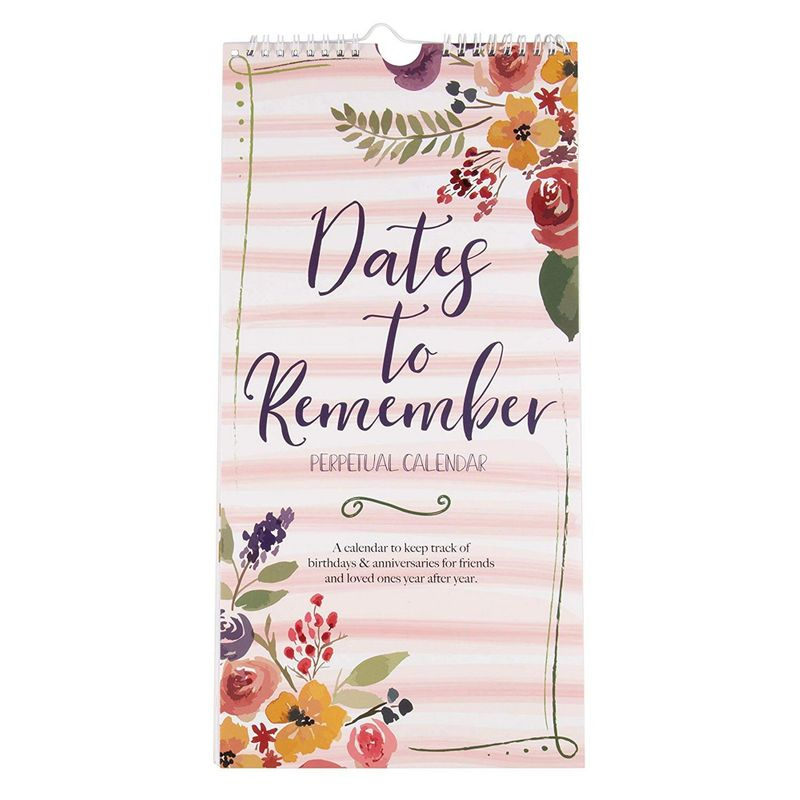 Date to Remember Large Desk Perpetual Calendar with Reminder Stickers (16 x 8 In)