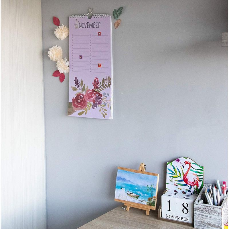 Perpetual Calendar Planner Schedule Wall Decoration with 210 Reminder Stickers