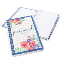 2-Pack Internet Address Password Keeper Logbook with Alphabetical Tab Divider