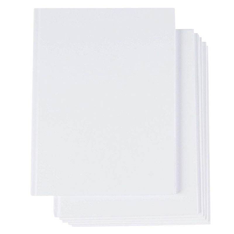 Blank Hardcover Sketchbooks, 18 Sheets Each (6 x 8 In, 6 Pack)