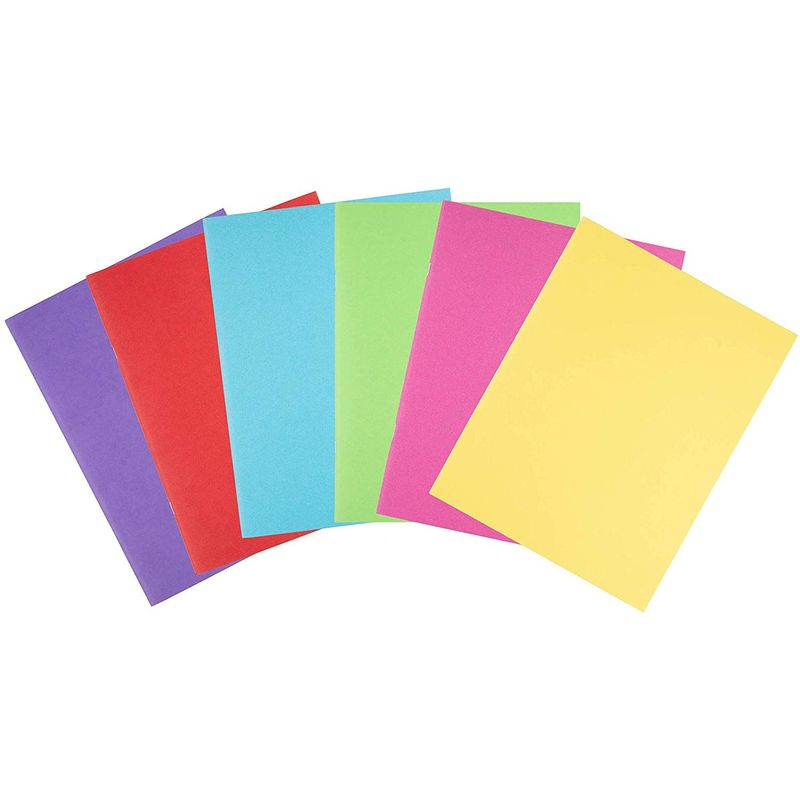 Blank Book - 12-Pack Colorful Notebooks, Unlined Plain Travel Journals for Students, Kids Diaries, Creative Writing Projects, 6 Assorted Colors, 8.5 x 11 Inches, Letter Size, 24 Sheets