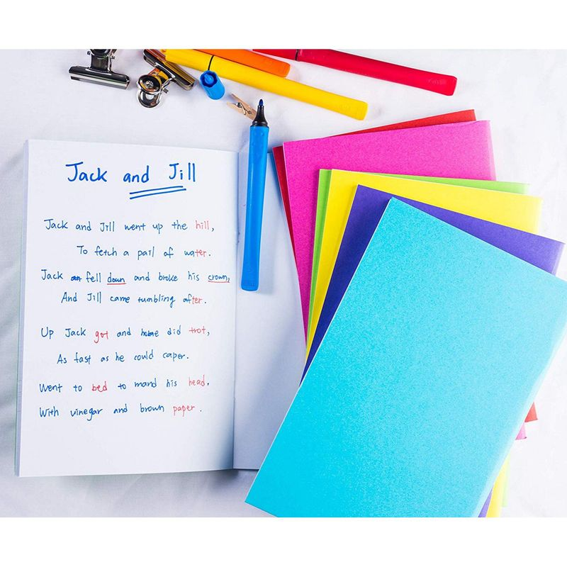 12-Pack Blank Colorful Notebook Unlined for Kids Student Drawing Writing 5.5x8.5