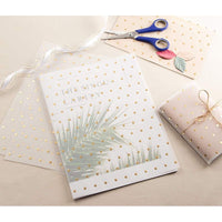 24-Pack Gold Foil Polka Dot Translucent Invitation Vellum Paper, Letter Size