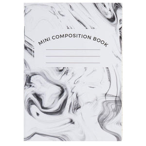 Mini Composition Book - 24-Pack Marbling Cover Notebook, Pocket Notebook Journal for Travelers, Students, Diary, 50 Sheets of College Ruled Lined Paper, Stapled Bound, 3 Colors, 3.2 x 4.5 Inches