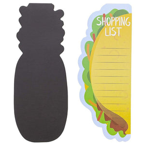 6-Pack Magnetic Shopping List Refrigerator Notepad, Foodie Design, 60-Sheet Each