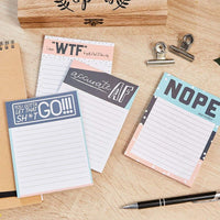 4-Pack Memo Notepad, 50 Sheets Each, 4 Assorted Cute Funny Design, 4 x 5.2""