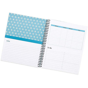 Monthly Budget Planner Organizer with 24 Pockets for Receipts and Bills, Blue