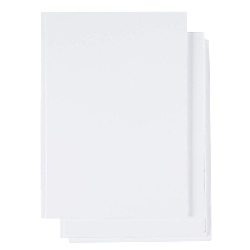 Hardcover Journals, White Sketch Book (5 x 5 In, 18 Sheets, 3-Pack)