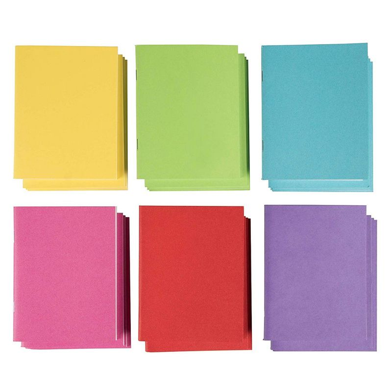 24 Pack Journals for Students, Blank Notebooks Bulk for Kids to Write Stories, 6 Colors, 4.25x5.5