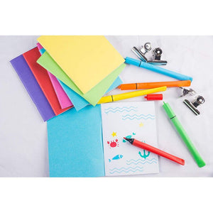 Paper Notebook Journals for Students, 6 Colors (4.25 x 5.5 Inches, 48-Pack)