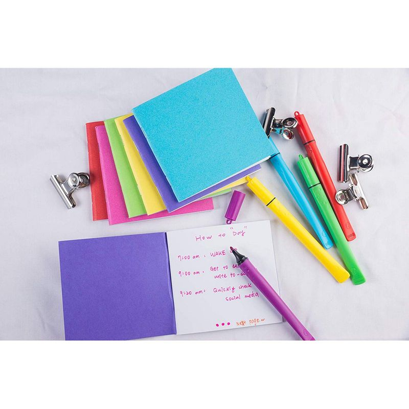 48-Pack Blank Book Colorful Notebooks Unlined Plain 6 Colors 4.1 x 4.2, 24 sheet