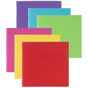 Paper Notebook Journals for Students, 6 Colors (4.1 x 4.2 Inches, 48-Pack)