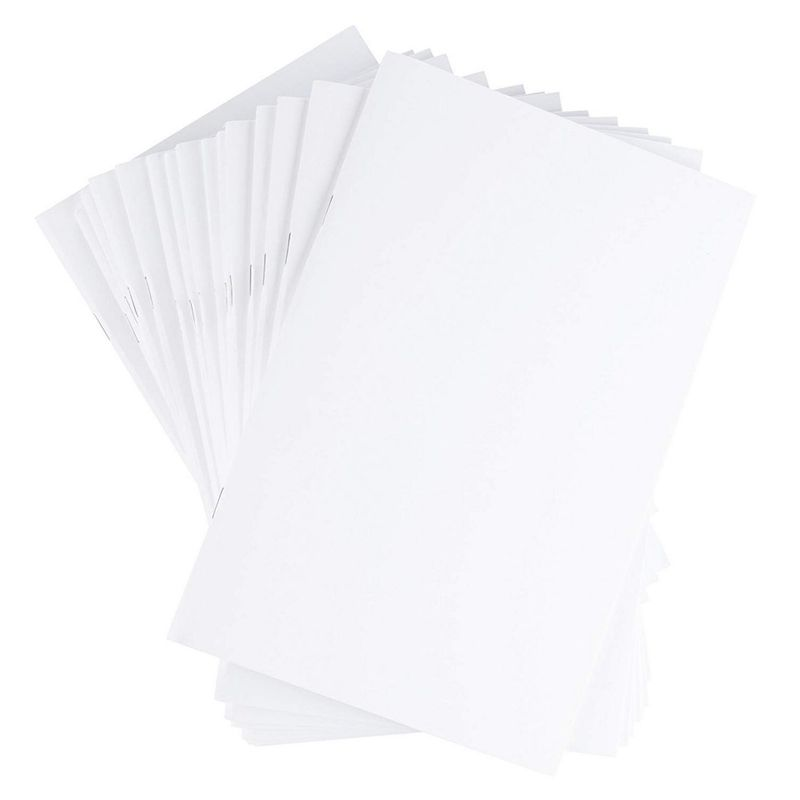 "24-Pack White Blank Unruled Paperback Notebook 5.5"" x 8.5"" Half Letter Sized"