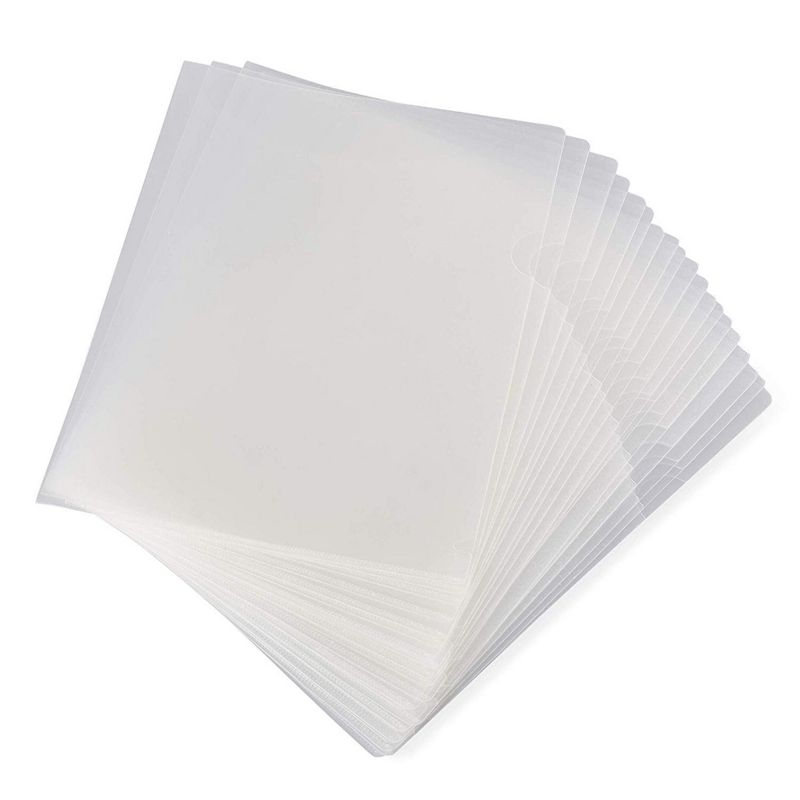 Paper Junkie 24-Pack Clear Project Protector Folders for Letter Size Documents, 11.4 x 8.9 Inches
