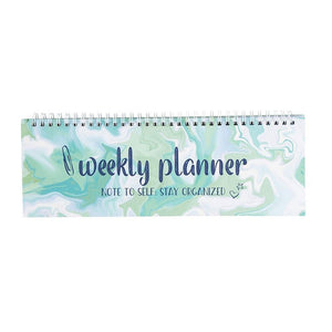 Marble Motivational Spiral Bound Weekly Planner for Offices (11.7 x 4.1 in)
