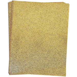 Paper Junkie Gold Glitter Craft Paper, Single Sided, 8.5 x 11 Inches (24 Sheets)