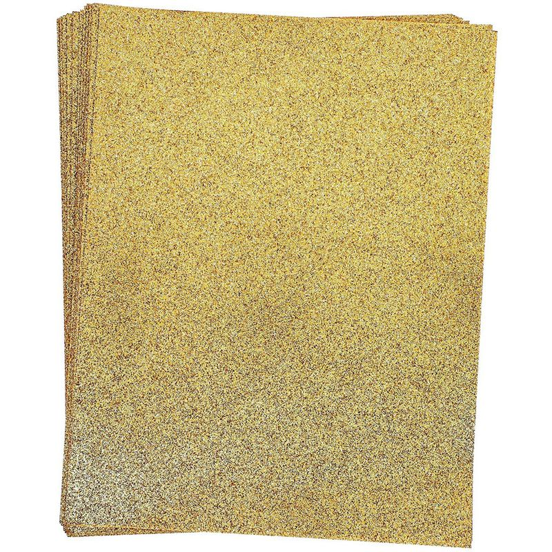 Gold Glitter Cardstock Paper for Card Making (8.5 x 11 In, 24 Sheets)