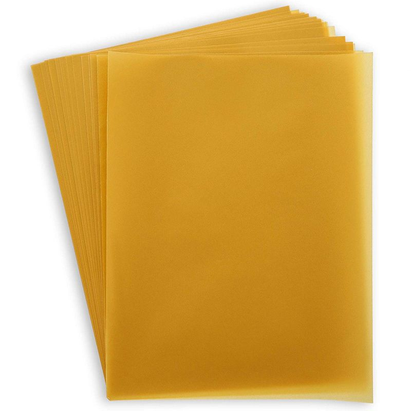 Paper Junkie 50-Sheets Gold Vellum Paper for Card Making, Invitations, Scrapbooking, 8.5 x 11 Inches