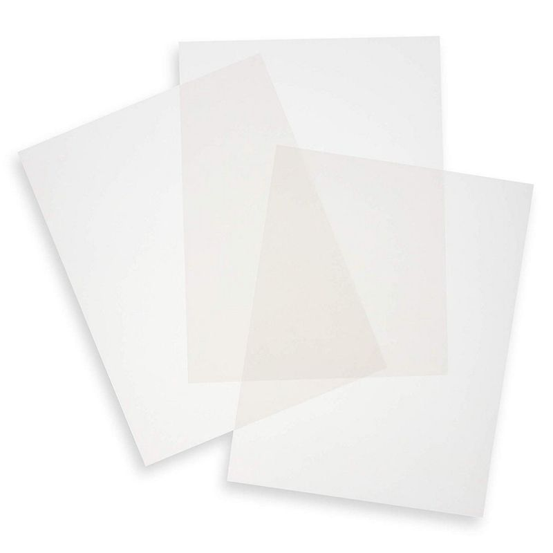 Paper Junkie 50-Sheets Silver Vellum Paper for Card Making, Invitations, Scrapbooking, 8.5 x 11 Inches