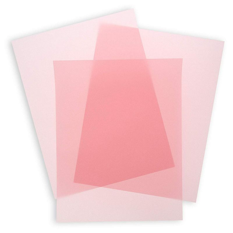 Pink Vellum Paper for Invitations and Tracing (8.5 x 11 in, 50 Sheets)