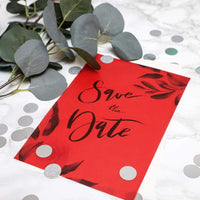 50-Sheets Red Vellum Paper for Card Making, Invitations, Scrapbooking, 8.5 x 11""