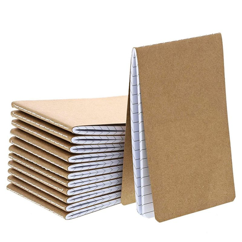 Kraft Cover To Do List Notepads, 64 Pages Each (2.7 x 4.5 In, 12 Pack)