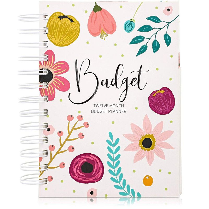Paper Junkie Money Budget Planner 12 Month Organizer Notebook, 5 x 7 Inches