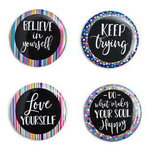 Inspirational Magnet Set for Fridge, Locker, Classroom, and Bulletin Board (18 Count)