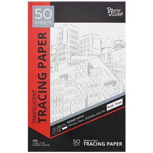 Paper Junkie Vellum Tracing Drawing Pad, 50 Sheets, 11 x 17 Inches
