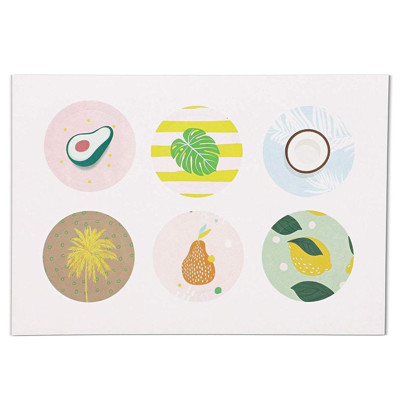48x Fruits and Plants All Occasion Blank Greeting Cards w/ Envelopes & Stickers