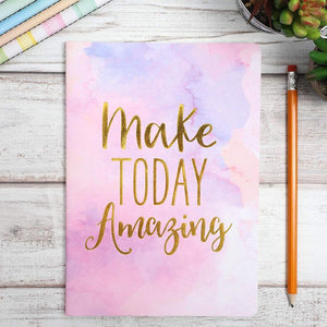 Paper Junkie Soft Cover Notebooks with Inspirational Quotes, Watercolor with Gold Foil (A5, Set of 6)