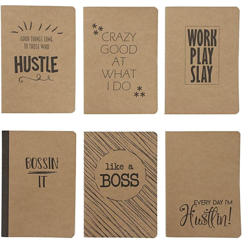 Paper Junkie Lined Pocket Journals with Quotes (4 x 5.75 in, Soft Cover, 24 Pack)