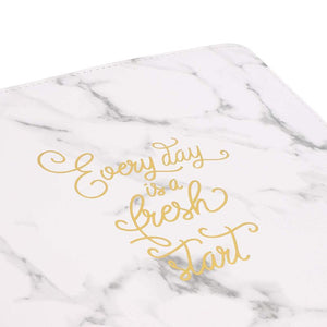 Paper Junkie Every Day is a Fresh Start Document Padfolio (Marble with Gold Foil, 10.5 x 12.5 in)